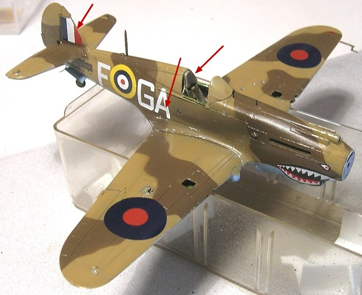 Montage: Curtiss Tomahawk MkIIB 1/72 Monta134