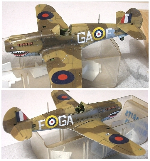 Montage: Curtiss Tomahawk MkIIB 1/72 Monta137