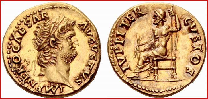 Exceptionnel : vente d'un aureus ... de Pompéi ! - Page 2 Nero_b10