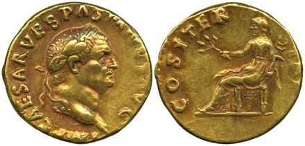 Exceptionnel : vente d'un aureus ... de Pompéi ! Pt3med10