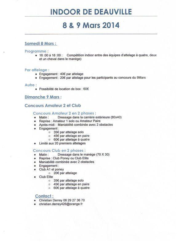 Mars 2014 - 4ème Indoor Deauville-PIC - Le concours Amateur 2 et Club Progra10