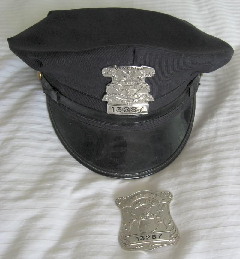 Patrol hat et badges du Detroit Police Dept Detroi10