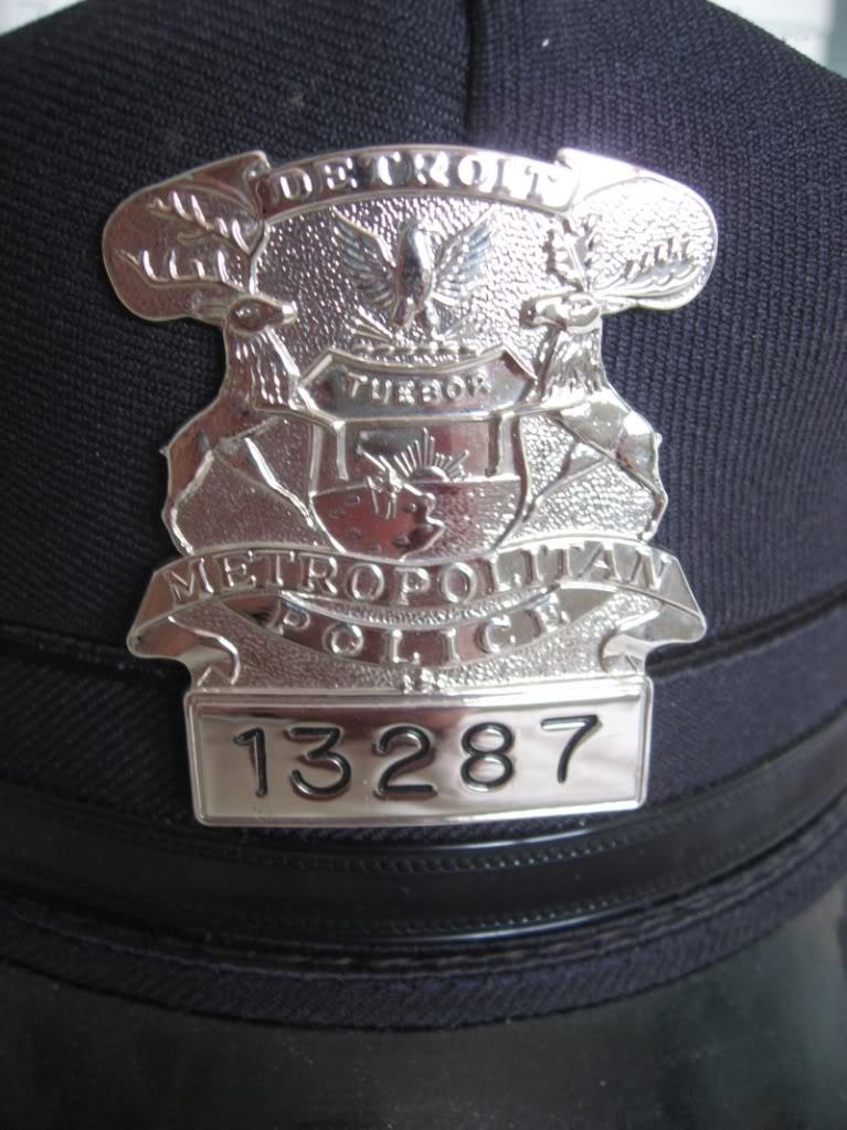 Patrol hat et badges du Detroit Police Dept Detroi11