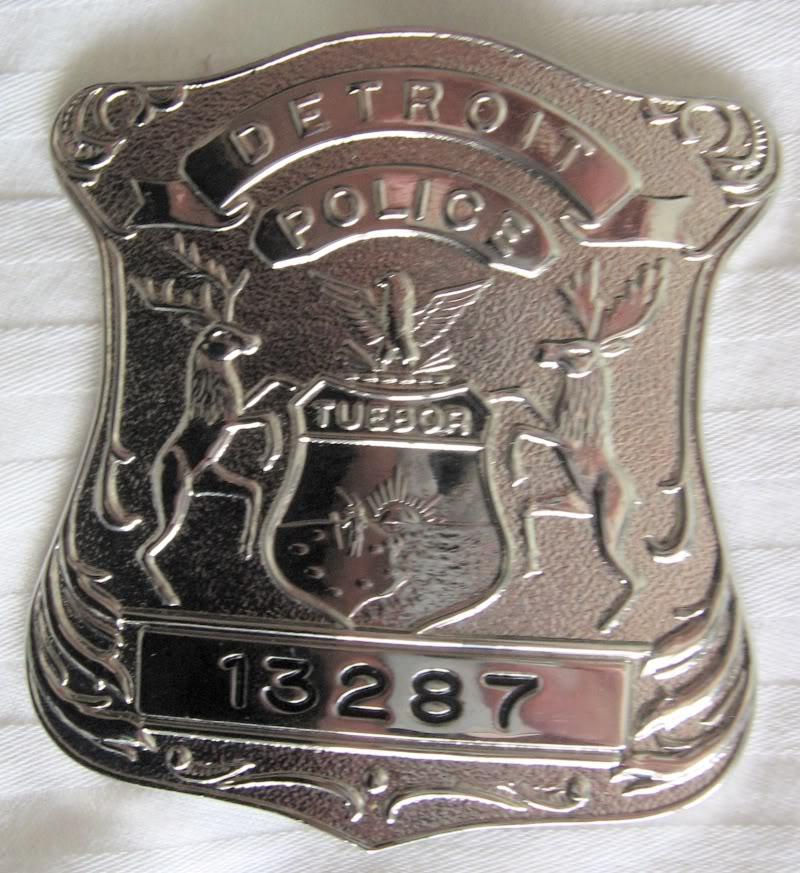 Patrol hat et badges du Detroit Police Dept Detroi12