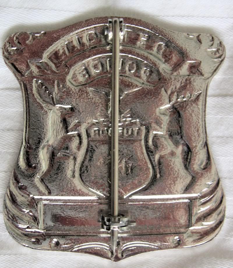 Patrol hat et badges du Detroit Police Dept Detroi13