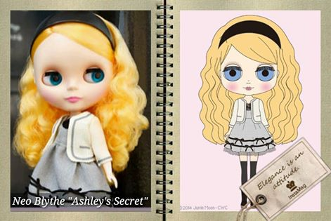 néo blythe . Ashley's Secret. mai  2014 16216910