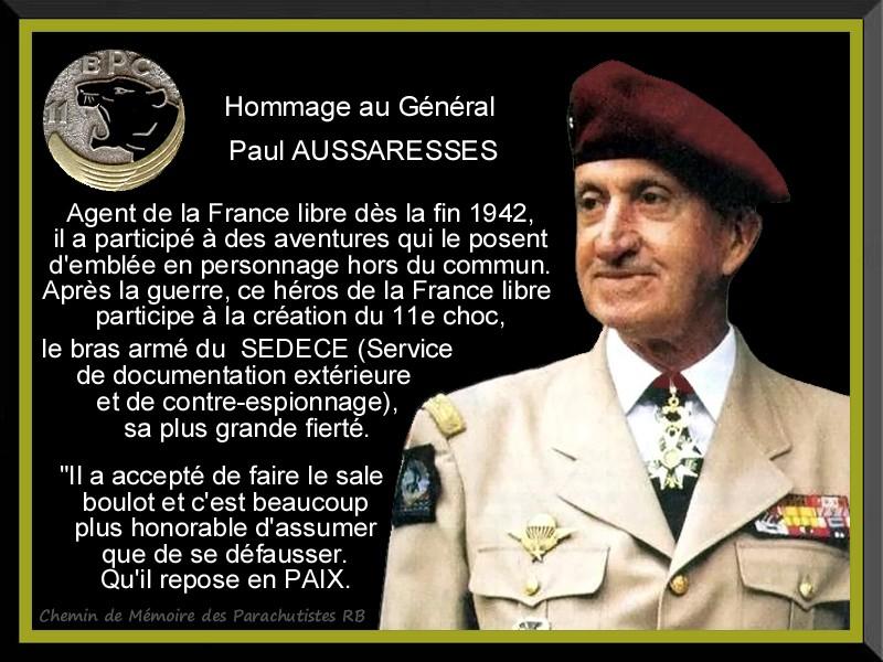 Hommage au Général Paul Aussaresses mort à 95 ans - Page 2 2_plaq14