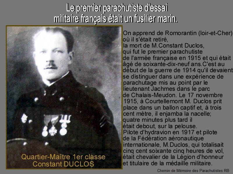 un fusilier marin qui effectue le 17 novembre 1915 le 1er saut en parachute de l'histoire militaire française. 6_cons10