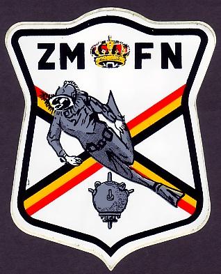Autocollant F.N. Plongeur-démineur Zmplon10