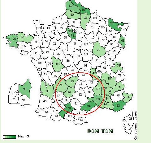 """rencontres v2 ete 2014 region """"Gers""""  15 juin - Organisation ici Cartem10"""
