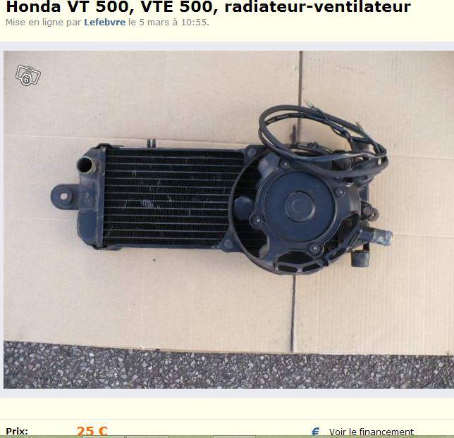 Boîtier filtre à air  VT 500 E (radiateur vendu) Radia10