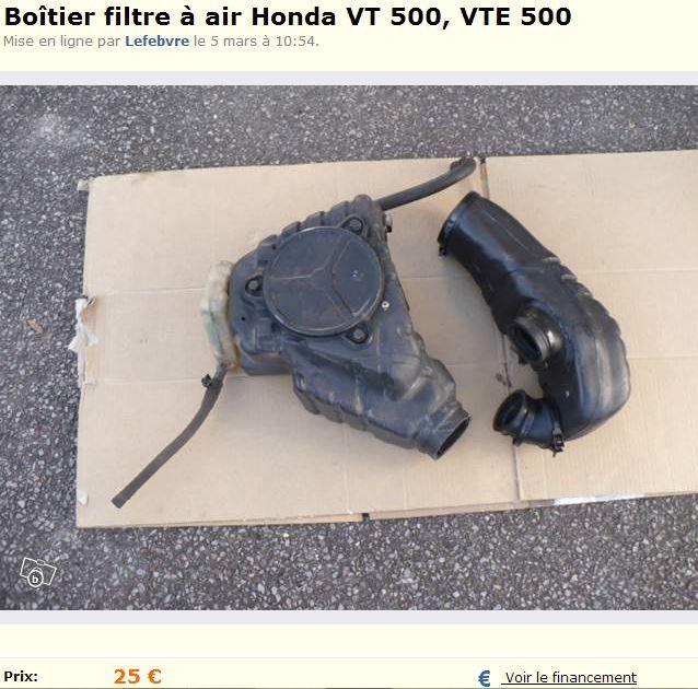 Boîtier filtre à air  VT 500 E (radiateur vendu) Radia110