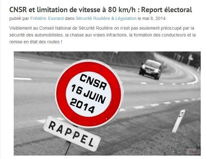 La limitation de vitesse à 80 ? (+ sondage) - Page 3 Vitess11