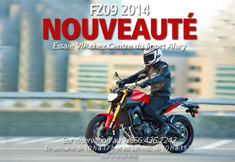 Motocyclette FZ09 950 2014 de Yamaha - NOUVEAUTÉ Fz0910
