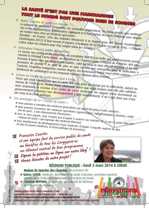 Rencontre le 3 mars 2014 sur la création d'un Centre de Santé Cergy_11