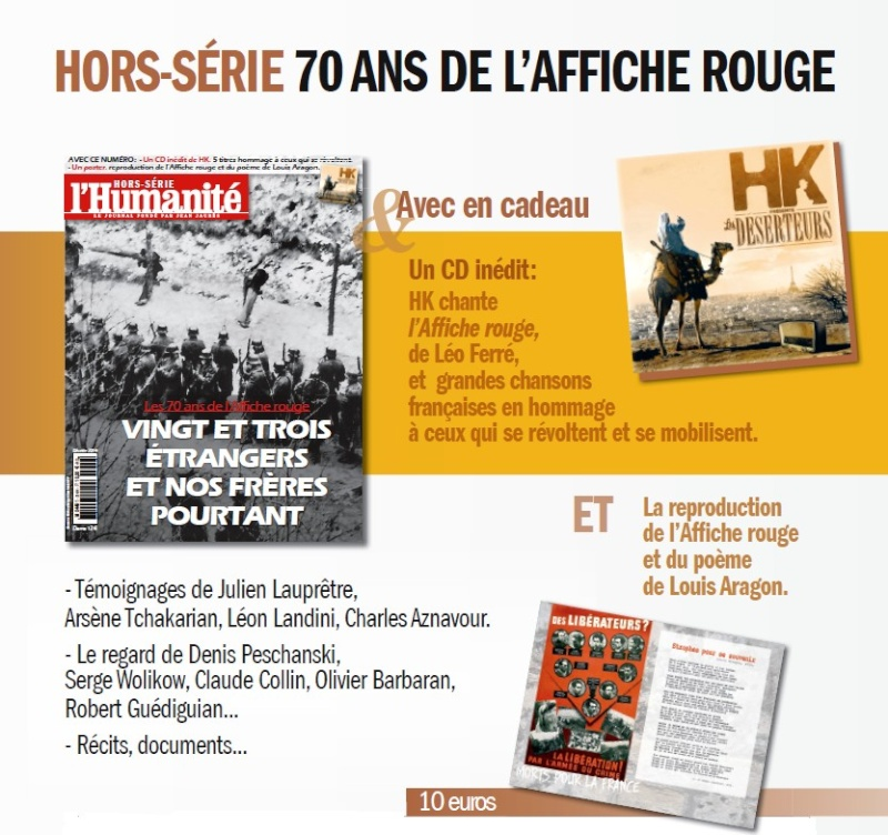 Hors série de l'Humanité sur l'affiche Rouge Hsaffi11