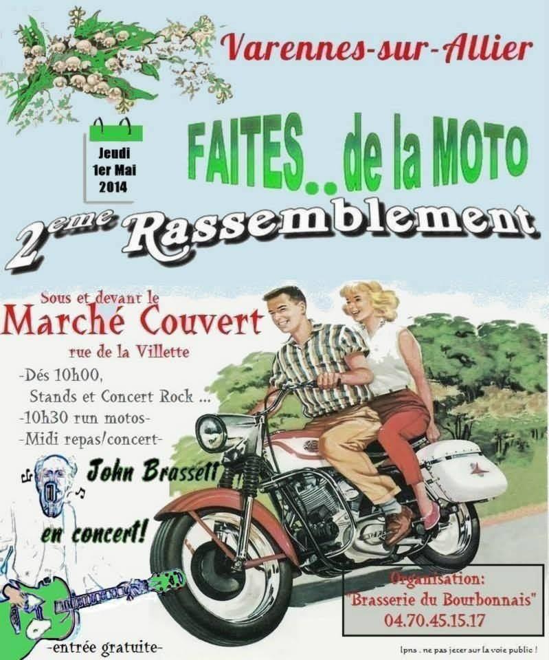 FAITES DE LA MOTO 01/05/2014   -   VARENNES SUR ALLIER (03)Salon / Fête de la Moto 29010
