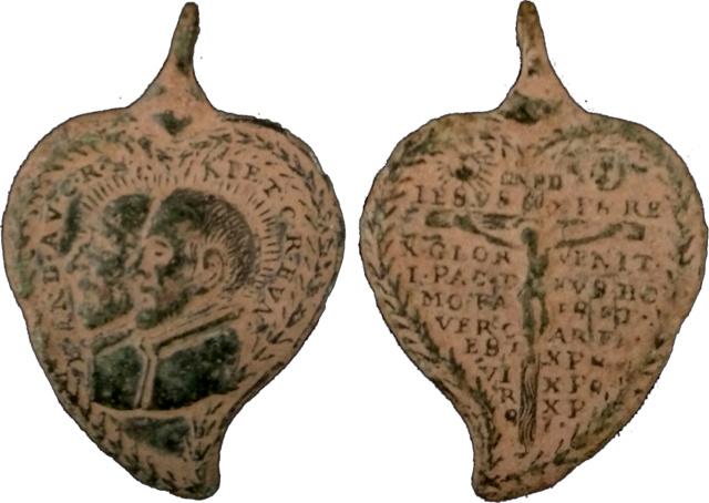 S. Andrés Avelino y S. Cayetano de Thiene / Crucifijo con oración - s. XVII S_caye10