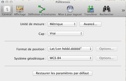 préférences BaseCamp Captur19
