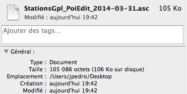 POI  GPL  sur GARMIN 1340T Captur76