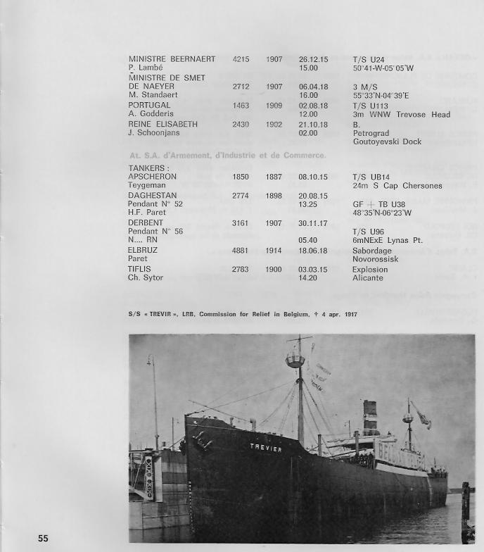 la marine marchande belge 1914-1918 B1010