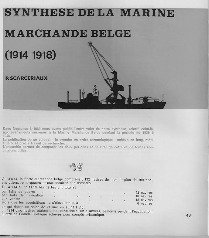 la marine marchande belge 1914-1918 B110