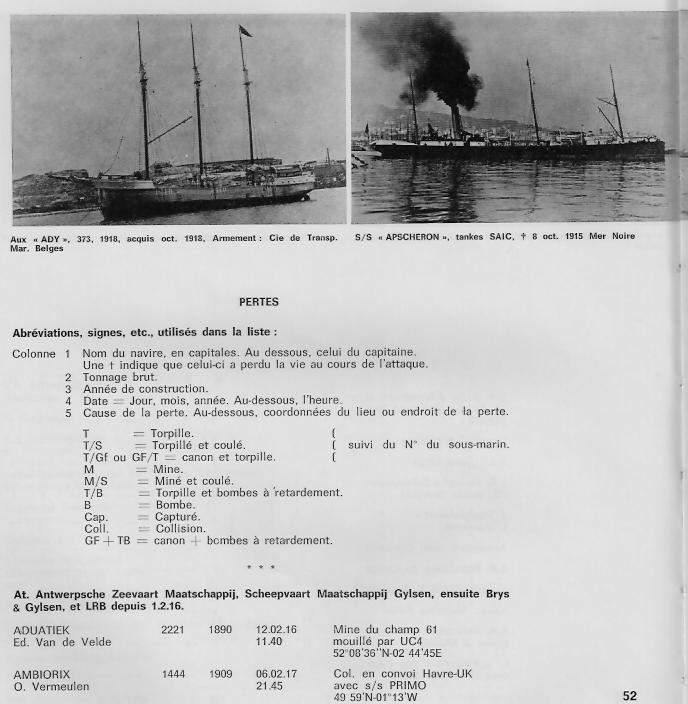 la marine marchande belge 1914-1918 B710