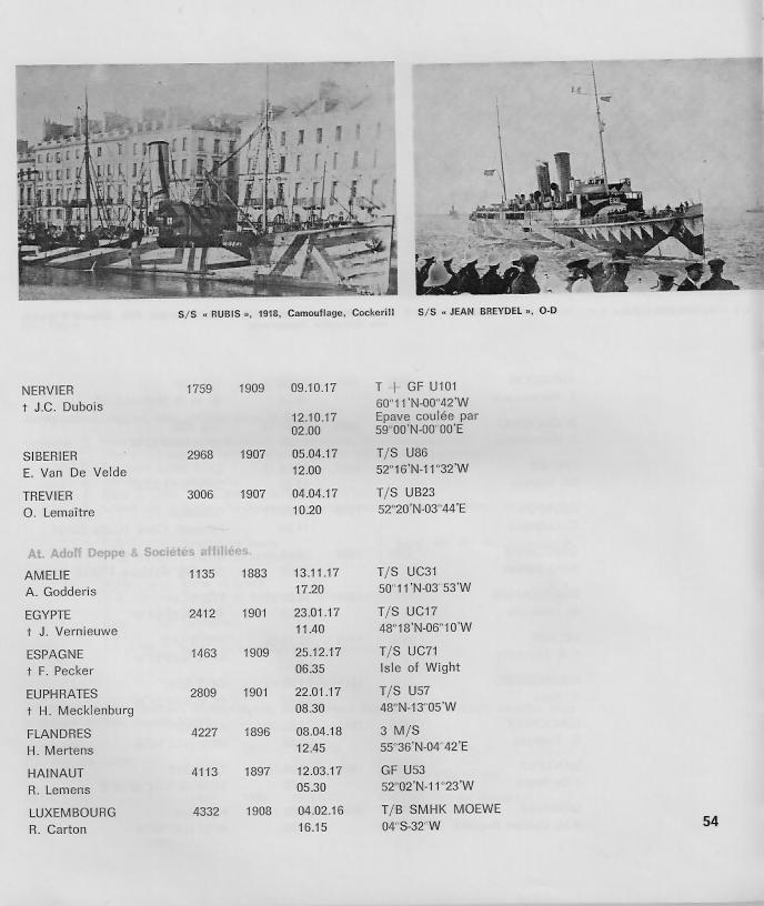 la marine marchande belge 1914-1918 B910