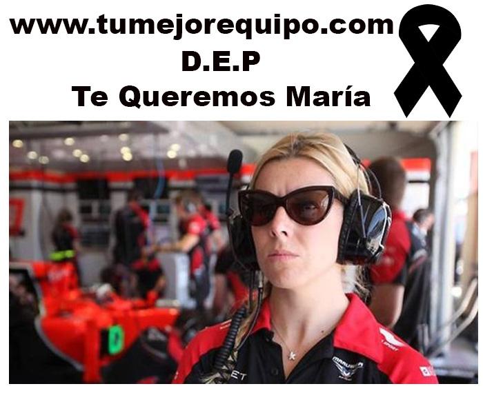 La F1 se despide de Maria de Villota Villot10