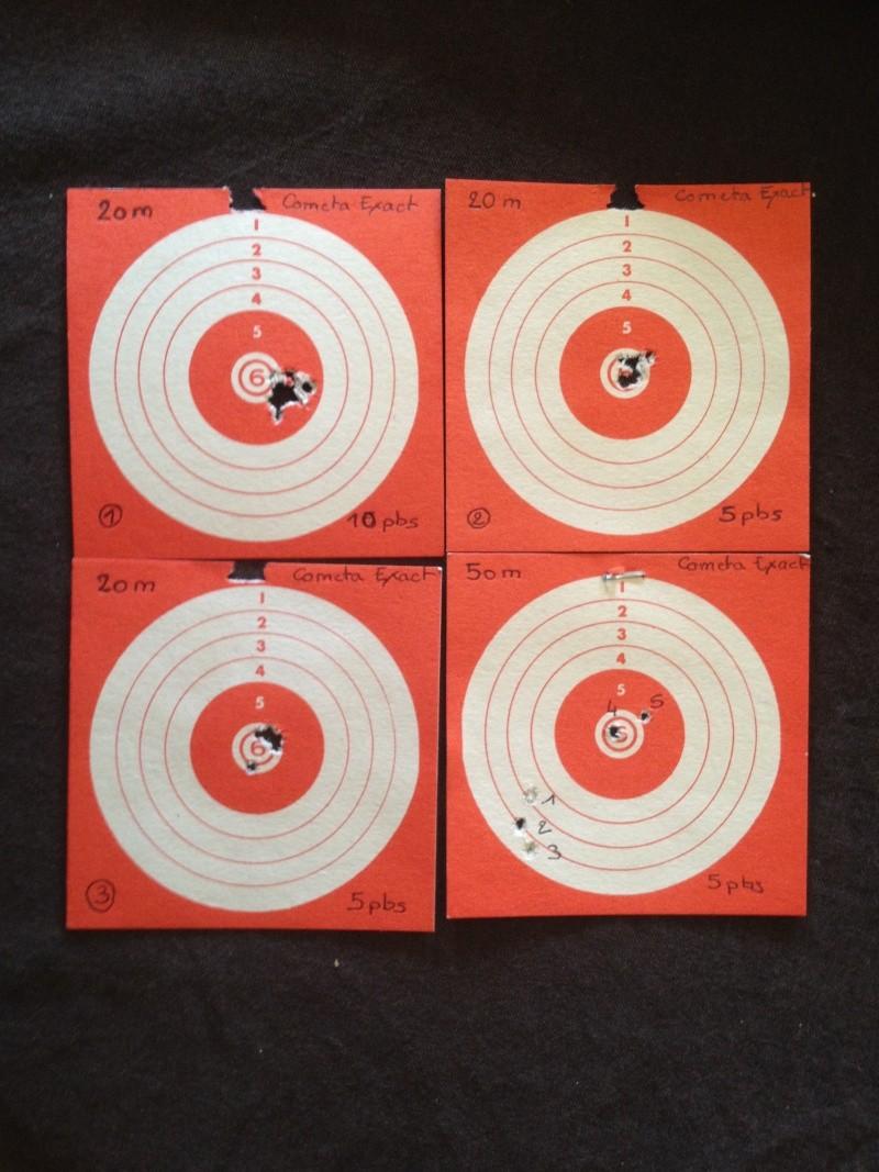 Les 1er cartons avec ma HW97K à 20m et 50 m Img_0811