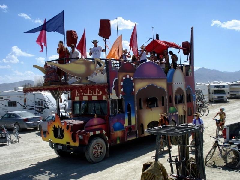 Site de Burning man, Nevada - USA Bus10