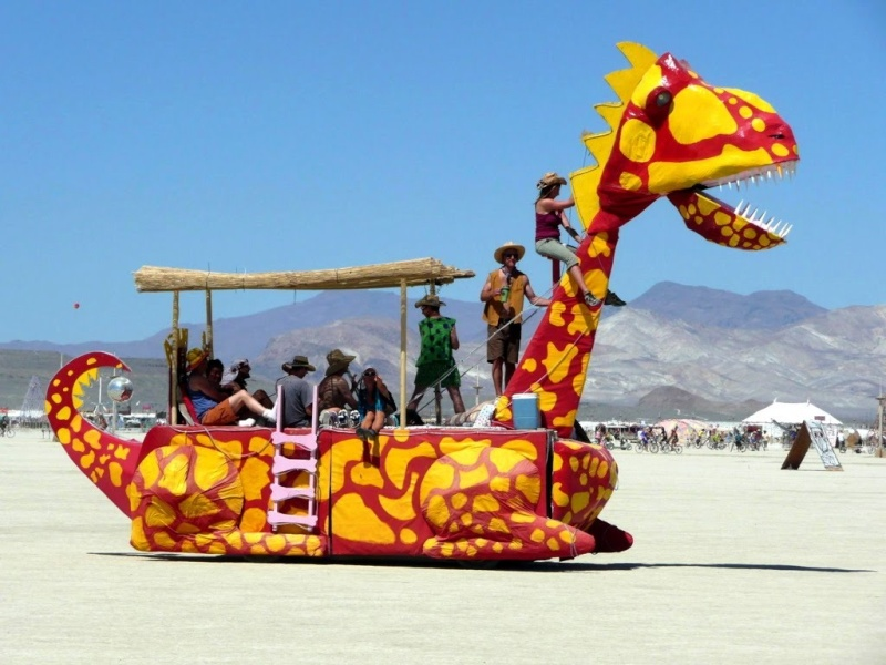 Site de Burning man, Nevada - USA Dragon10