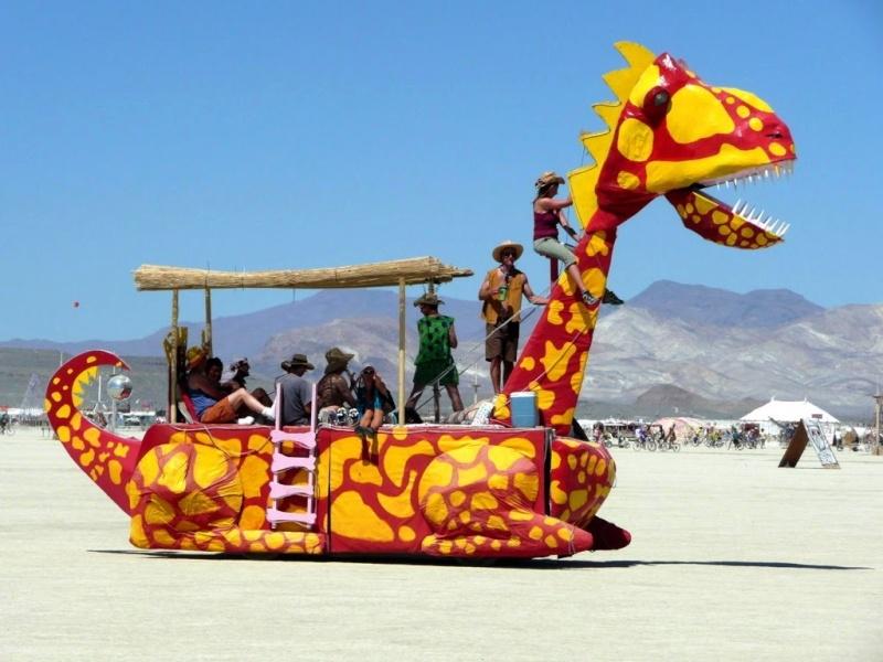 Site de Burning man, Nevada - USA Dragon10