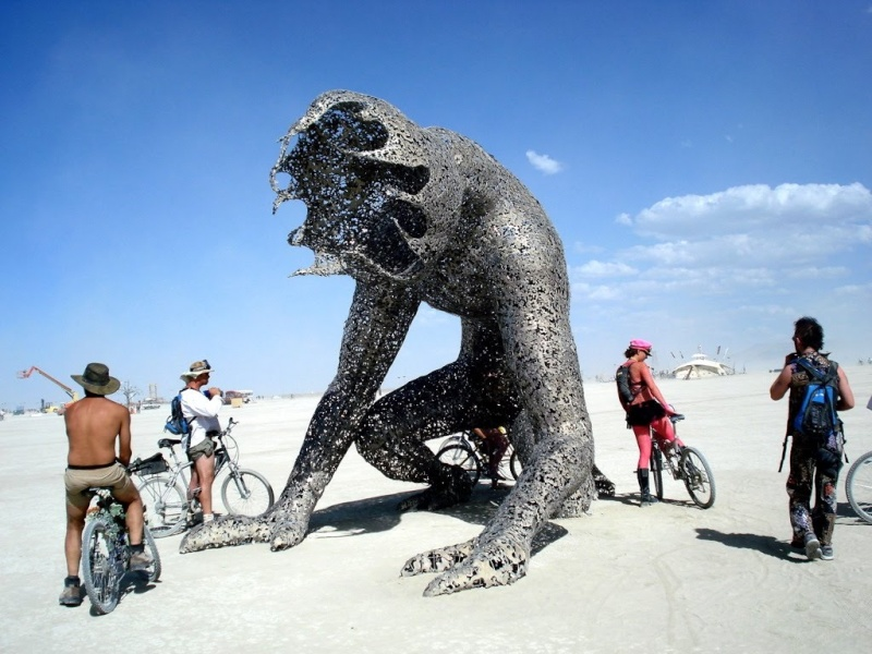Site de Burning man, Nevada - USA Hommem10