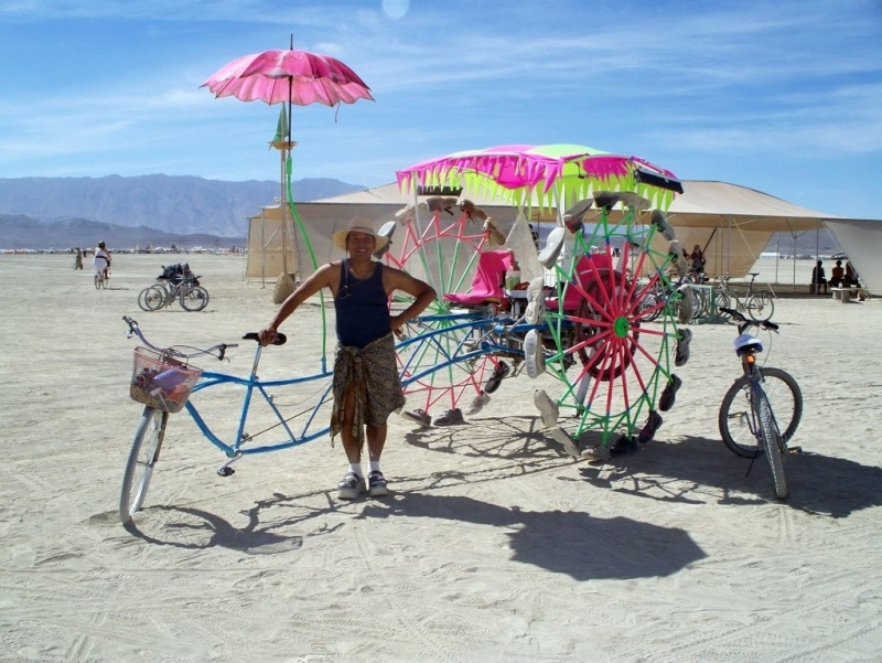 Site de Burning man, Nevada - USA Velo10