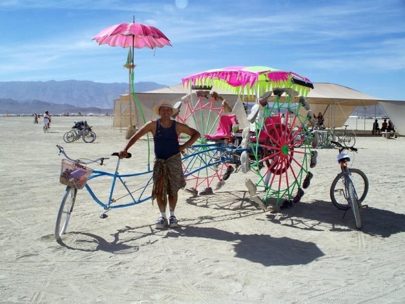 Site de Burning man, Nevada - USA Velo10