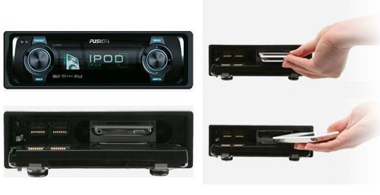 Sistema de Som para Carros com Dock para iPod! Fusion10