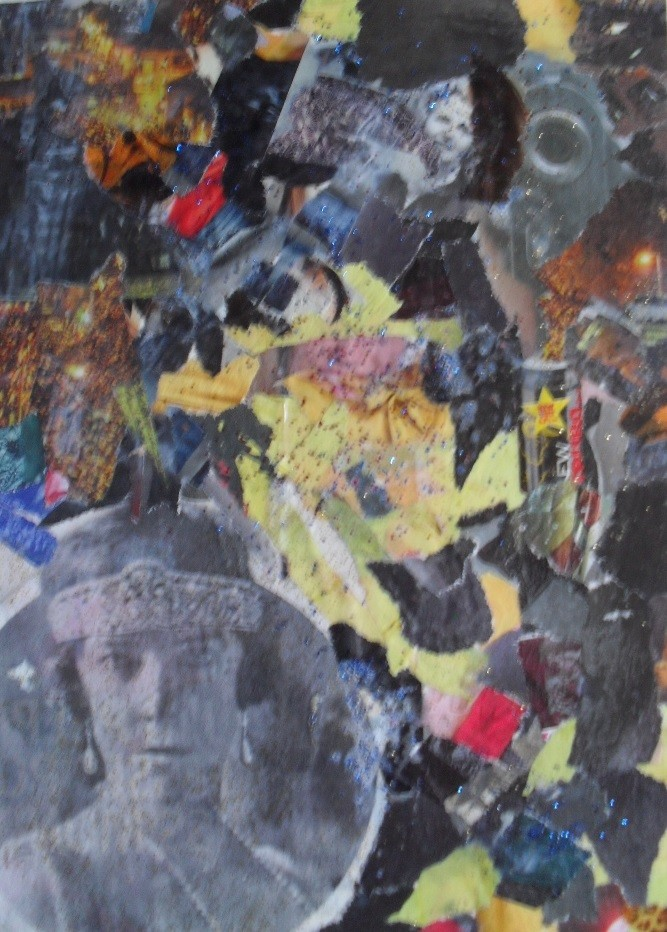 me revoila en peinture ...euh non ,collage yes .. Reine10