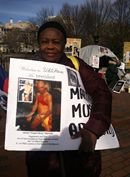 "FANMILAVALAS NEW YORK  et  PHILADELPHIA  """"picket lin devant White House Dc110"