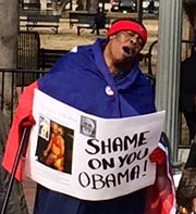 "FANMILAVALAS NEW YORK  et  PHILADELPHIA  """"picket lin devant White House Dc310"