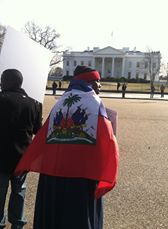 "FANMILAVALAS NEW YORK  et  PHILADELPHIA  """"picket lin devant White House Dc710"