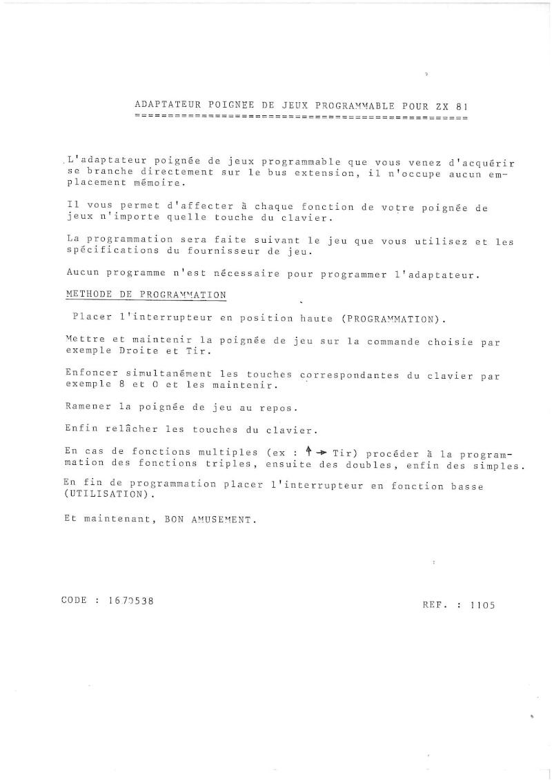 ZX 81 et VP 100 Notice10