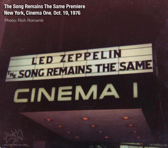 Réactions à la sortie de The Song Remains The Same Lz6010