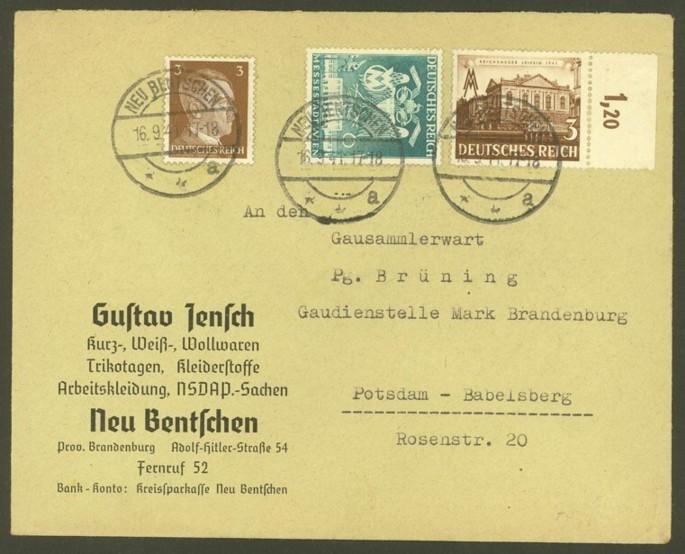 Reizvolle Briefe des Deutschen Reichs 782_7610