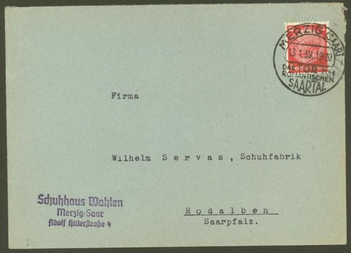 Reizvolle Briefe des Deutschen Reichs Merzig11