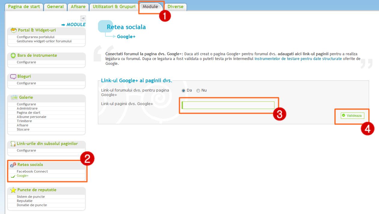 Actualizare Forumgratuit: Posibilitatea crearii unei legaturi directe intre forum si pagina Google+ 44411