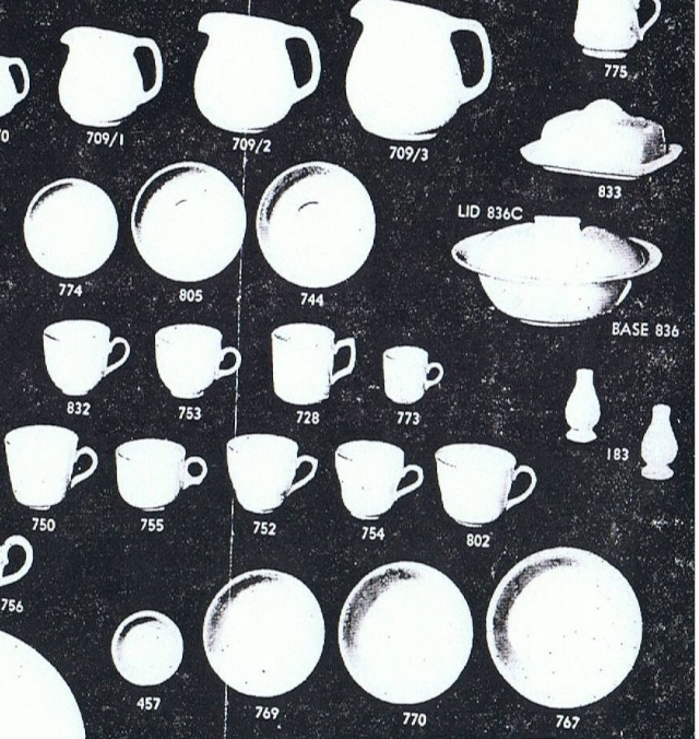 Earthenware Coupe Saucers: 774, 805, 744 744_sa10