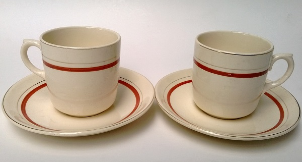 Crown Lynn Excella Ware children's cup and saucer Excell10