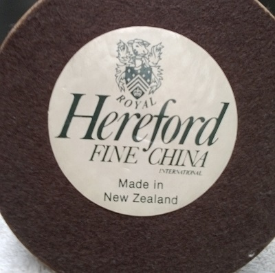 Hereford Fine China Fantail ! Herefo10
