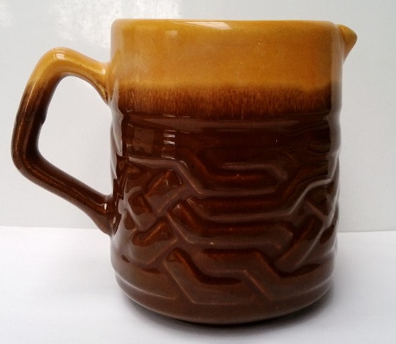 Orange and brown Orzel jug ..... Orzel_10